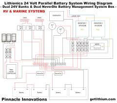 alternate renewable energy off grid energy solar power 48 volt system wiring diagram for rv s and marine · click here for a larger image in a new window