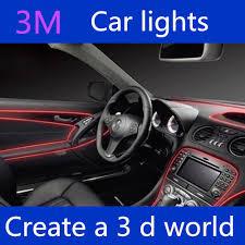 freeshipping 3mel decorative strip light car interior lights ambient lighting retrofit body trim interior led cold car mood lighting