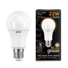<b>Лампа Gauss LED A70</b> 22W E27 3000K - Gauss ...