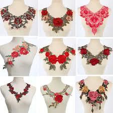 <b>fine</b> Venise Pink Red <b>Lace</b> fabric Dress <b>Applique</b> motif blouse ...