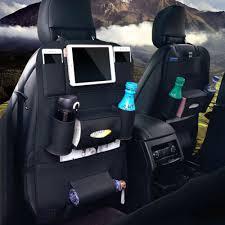 Pu Leather <b>Car Seat Back</b> Storage Bag Multi-Pocket Organizer Cap ...