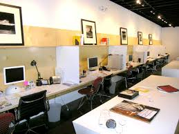 beautiful white wood stainless luxury design cool office space interior desk swivell chairs typist computer table cheap office spaces