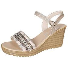 Womens Casual Sequin Wedge Sandals,Summer ... - Amazon.com