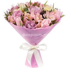 """Букет из <b>розовых</b> тюльпанов """"<b>Романтика</b>"""", артикул: 606980, с ..."""