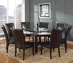 Silver Dining Room Set Steve Silver Hartford 9 Piece Round Dining Room Set W Brown