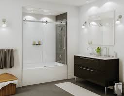 clear glass wall shower black and white bathroom decoration using rectangular white bathroom m