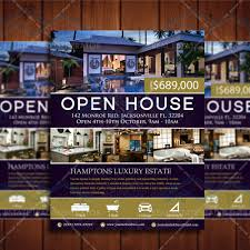elegant open house listing property template real estate lead open house flyer ad 2 product