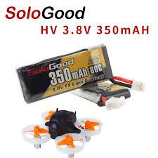 5PCS <b>SoloGood Lipo Batteries</b> 1S 3.8V 350mAh 80C Rechargeable ...