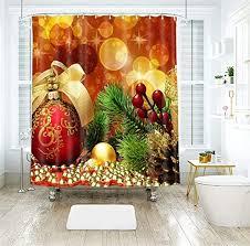 Yellow Christmas Ball Berry Printed Polyester Fabric ... - Amazon.com