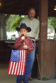 """what america means to me""""   the dalles chronicle""""what america means to me""""  ryder bray barrier  a first grader at dry hollow elementary school  recites the essay"""