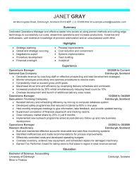 create my resume operation manager resume