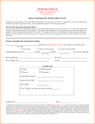 7+ recurring credit card authorization form | Authorization Letter Recurring Credit Card Authorization Form Template Recurring Payment Authorization Form ACH or Credit Card Payment - PDF .