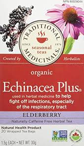 Traditional Medicinals Organic <b>Echinacea</b> Plus <b>Elderberry</b>, <b>20</b> tea ...