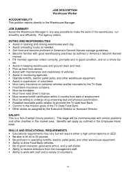 warehouse job resume getessay biz job description warehouse worker warehouse job