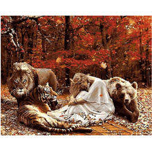 Compare Prices on Lion Hand Painted Canvas- Online Shopping ...
