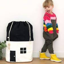 <b>Canvas House</b> Shape Toy <b>Storage</b> Hanging Bag for Kids ...