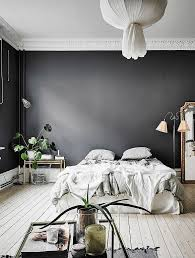 grey bedroom design ideas spacious black walls in this bedroom give it a surprisingly cosy look and witho