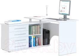 <b>Сокол</b>-Мебель <b>КСТ</b>-<b>109</b> (левый, белый) <b>Компьютерный стол</b> ...
