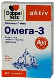 """<b>Доппельгерц</b> """"<b>Актив</b>. <b>Омега</b>-<b>3</b>"""", 80 капсул — купить в интернет ..."""
