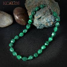 <b>KCALOE</b> Female Jewelry Green Malachite Necklace Fashion Zinc ...
