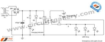 led 12v emergency light circuit diagram circuits gallery