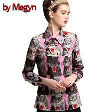 2019 <b>By Megyn</b> 2018 Fashion Designer Runway <b>Women Blouses</b> ...