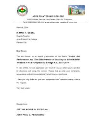 Resume Format  Resume Format For Ojt Tourism Students Resume Genius Resume Letter Sample For Ojt Chemistry Student Objectives