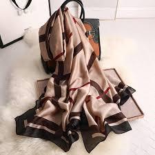 <b>2019 luxury brand</b> Women <b>Silk</b> scarf Beach Shawl and Echarpe ...