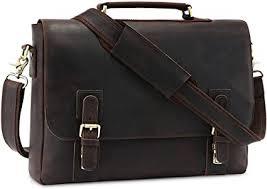 "Kattee Genuine <b>Leather Briefcase</b> 15.6"" <b>Laptop Bag</b> Messenger Bag ..."