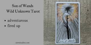 Son of Wands :: <b>Wild</b> Unknown Tarot   Carrie Mallon