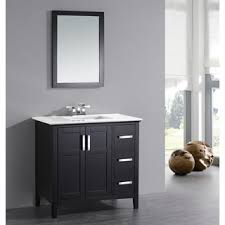 bathroom quot mission linen: wyndenhall salem black  door  inch bath vanity set with white quartz marble