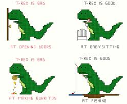 babysitting cross stitch patterns t rex set 1 4 patterns of t rex and doors babysitting burritos and fishing