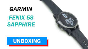 <b>Garmin fenix 5S Sapphire</b> Unboxing HD (010-01685-11) - YouTube