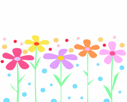 Image result for clipart coloured  rows of flowers