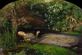 waterhouse  the lady of shalott   the pre raphaelites and mid    sir john everett millais  ophelia      oil on canvas     x    cm  tate britain  london