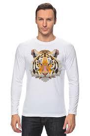 """Лонгслив """"Полигональный <b>тигр</b>"""" #2654930 от ingenervolos ..."""