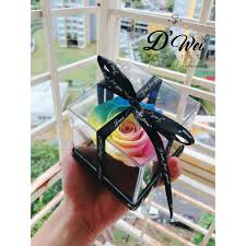 RAINBOW <b>PRESERVED</b> REAL ROSES | 100% NATURAL | Shopee ...