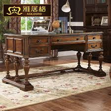 american continental desk wood computer calligraphy antique library furniture 8003 office tableschina mainland antique office table