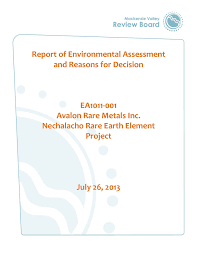 news mackenzie valley review board nechalacho ree project report of ea