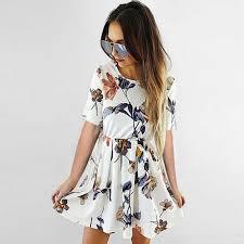 <b>Lossky Summer</b> Dress <b>Women 2018</b> Sexy Strapless Stitching ...