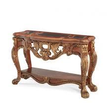 aico furniture chateau beauvais console table in noble bark 75260 39 bark furniture