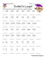 Ordering Numbers Worksheets - Have Fun TeachingOrdering Numbers Worksheet