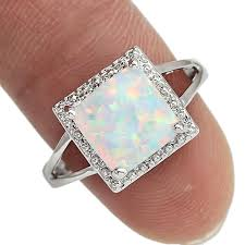 <b>Wholesale Retail Silver</b> Plated Four Claw Inlay White Pink Blue Fire ...