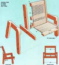 cedar patio chair plans cedar bench plans