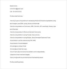 java developer resume template –    free samples  examples    java developer resume format