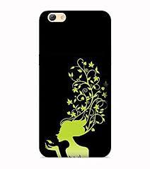Printvisa <b>Lady Green</b> Black Leaf Girl Designer Hard Back: Amazon ...