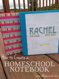 how to create a homeschool portfolio or notebook