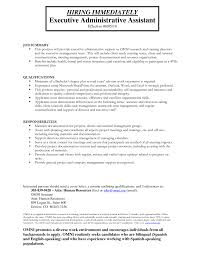 entry level executive administrative assistant resume eager world it