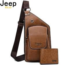 <b>JEEP BULUO Brand Men</b> Chest Bags 2 Pcs Set Summer Travel ...