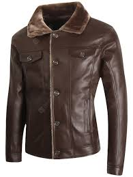 PENER Autumn and winter <b>mens business casual</b> leather jacket fur ...